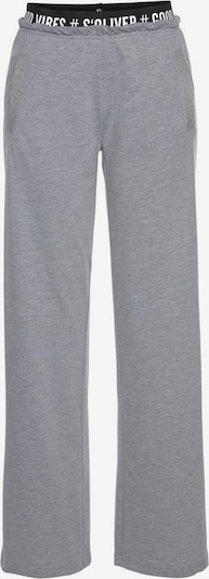 s.Oliver Pyjamabroek in de kleur Grijs gemêleerd, Productweergave