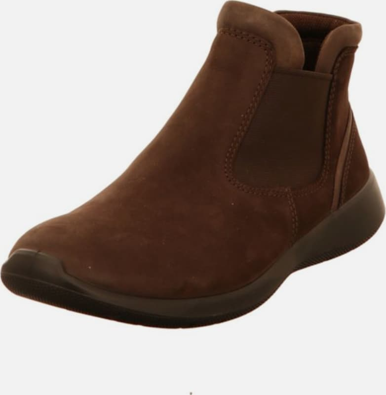 ECCO Stiefel in sepia: Frontalansicht