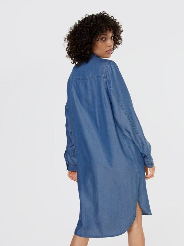 Denim En Pieces Bleu Robe chemise 7Ybf6gy
