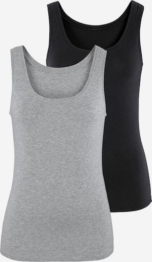 VIVANCE Tanktops (2 Stück) aus Baumwoll-Stretch in grau / schwarz, Produktansicht