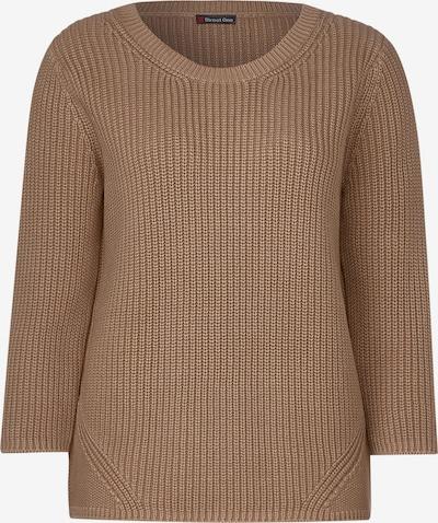 STREET ONE Pullover in braun, Produktansicht