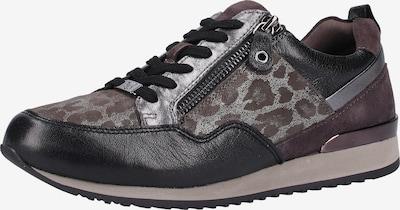 CAPRICE Sneaker in grau / bordeaux / schwarz, Produktansicht