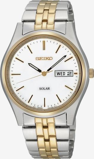 SEIKO Uhr in gold / silber / weiß, Produktansicht