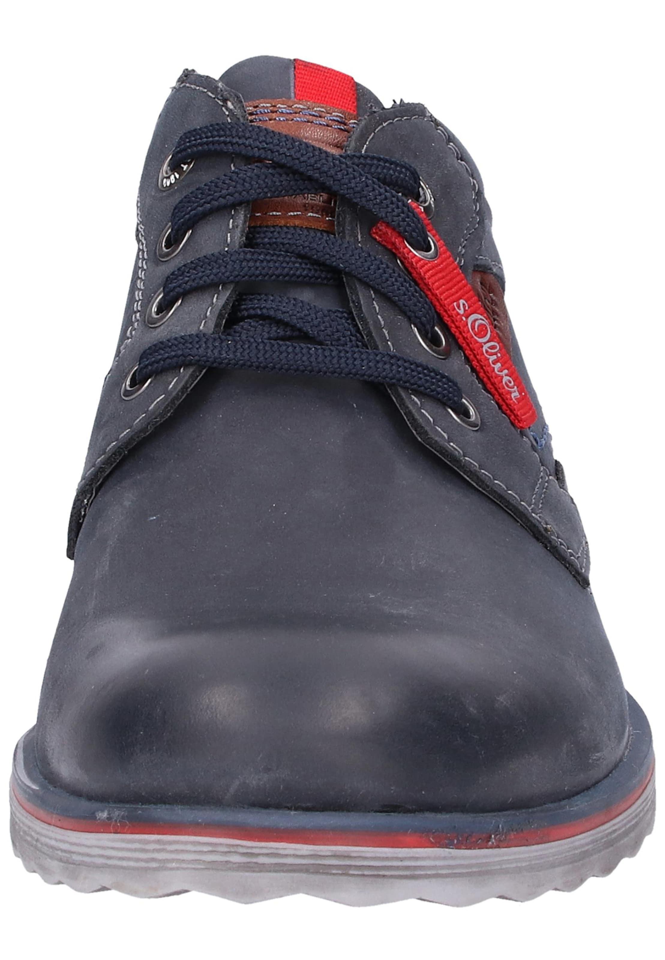 S oliver De Red Chaussure Bleu MarineRouille Label À En Lacets Sport WEIH92D