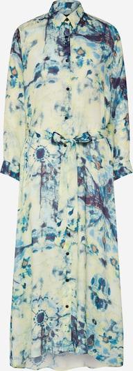 SAND COPENHAGEN Kleid 'Otile' in blau / gelb, Produktansicht