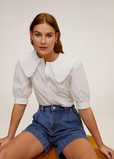 MANGO Hemd 'Siena' in weiß, Modelansicht