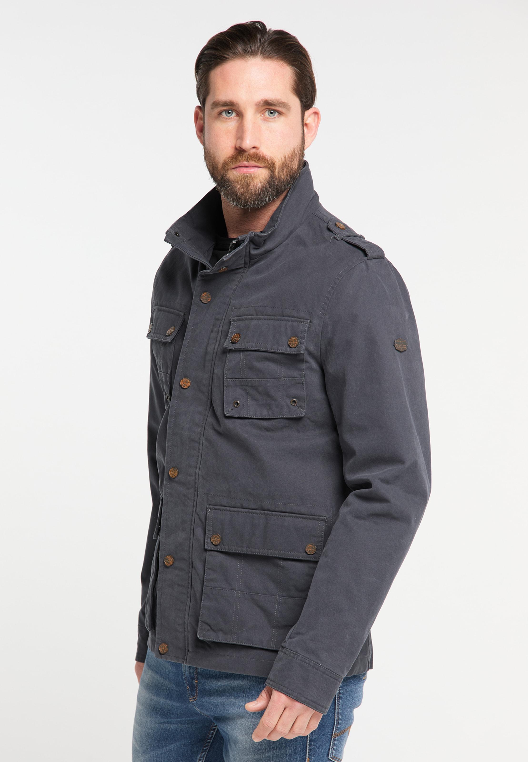 DREIMASTER Fieldjacket in kobaltblau Unifarben 4251686648345