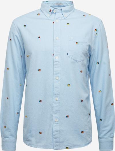 WRANGLER Srajca 'LS 1 PKT BUTTON DOWN' | svetlo modra / mešane barve barva, Prikaz izdelka