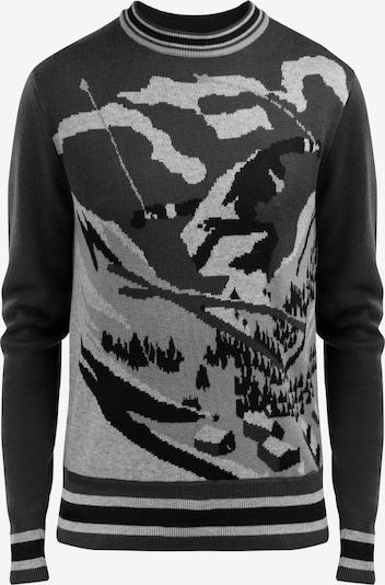 Finn Flare Pullover in grau / anthrazit / basaltgrau / schwarz, Produktansicht