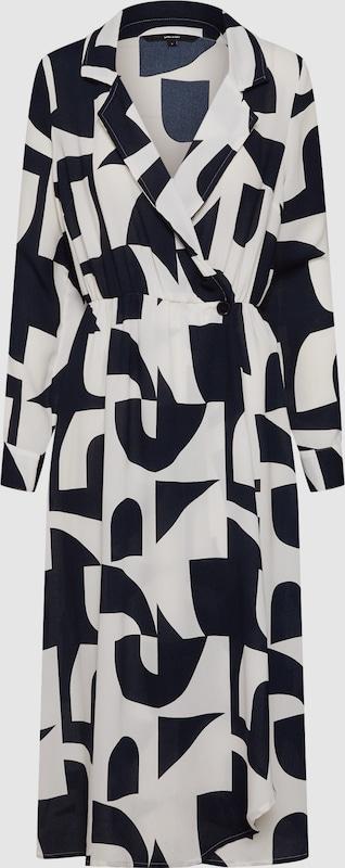 VERO MODA Kleid 'VMBOLDONIA W L BK DRESS WVN' in dunkelblau   weiß  Neu in diesem Quartal