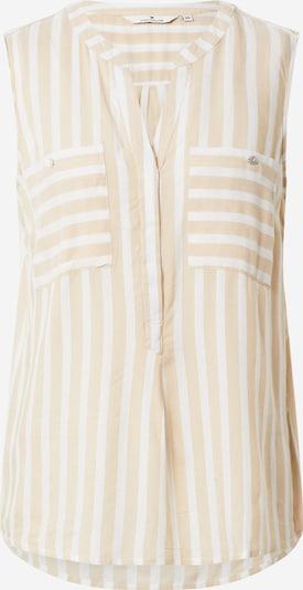 TOM TAILOR Blusentop in beige / offwhite, Produktansicht
