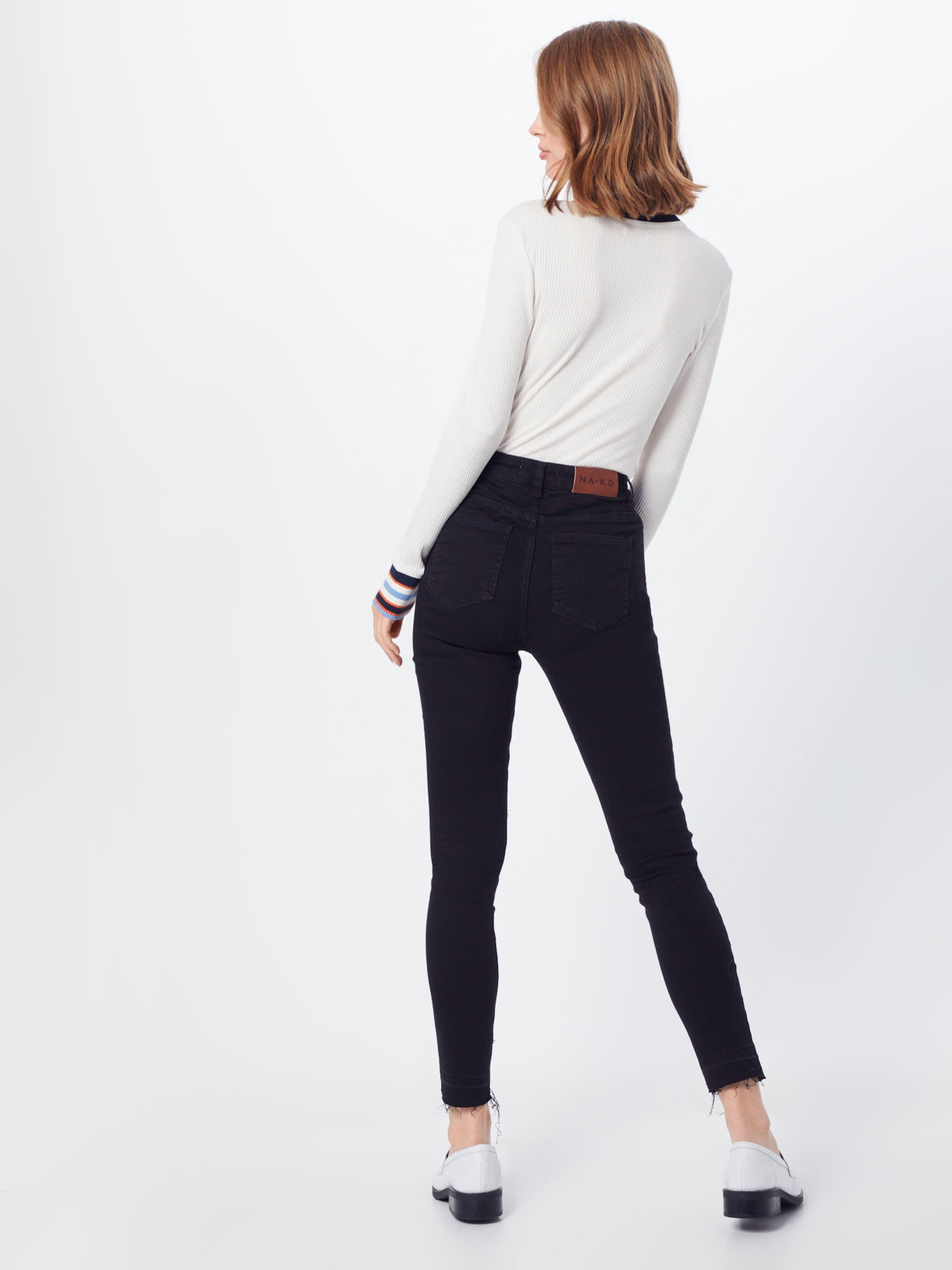 NA-KD Jeans in schwarz