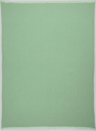 TOM TAILOR Home Wende-Decke mit gefranster Saumkante in grün, Produktansicht