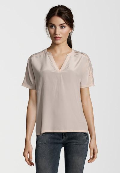 SET T-Shirt mit Spitzenverzierungen in puder, Produktansicht