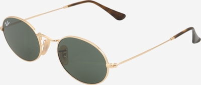 Ray-Ban Casual Sonnenbrille 'OVAL' in gold / grün, Produktansicht