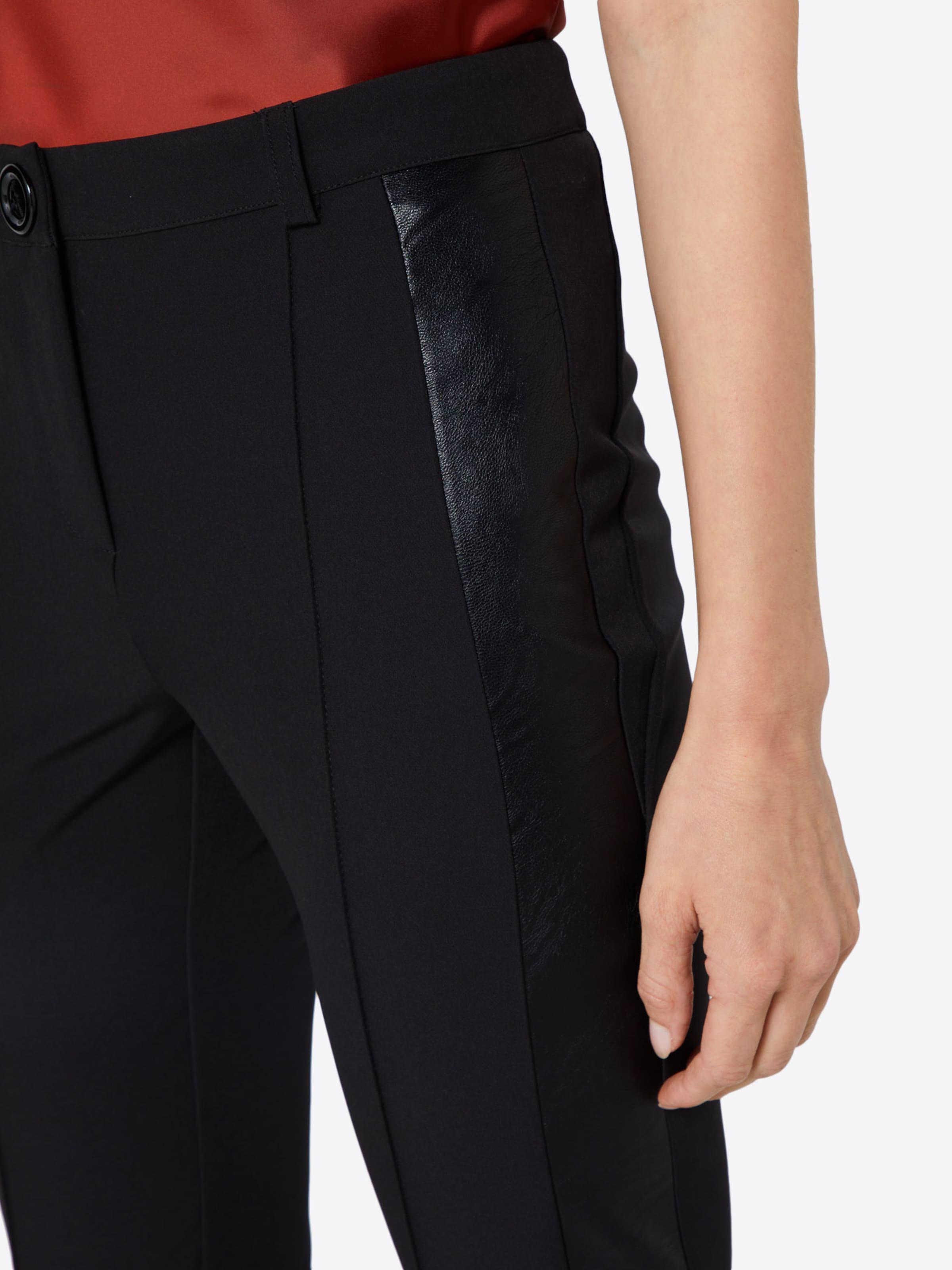 En Heine Pantalon Noir À Plis 0wknOP