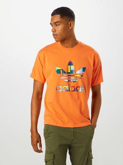 ADIDAS ORIGINALS Shirt in de kleur Gemengde kleuren / Sinaasappel: Vooraanzicht