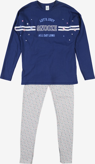 SANETTA Pyjama in blau / grau: Frontalansicht