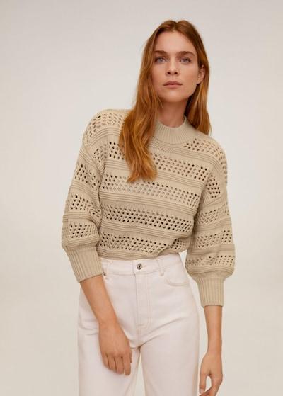 MANGO Pullover 'Lemonade' in beige, Modelansicht