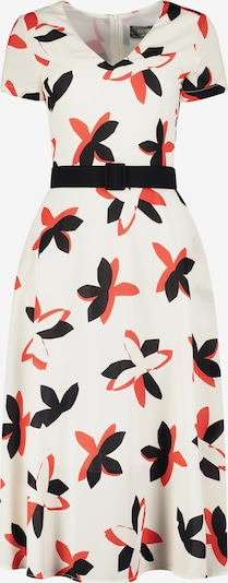 Nicowa Kleid 'Egiliaina' in creme / orangerot / schwarz, Produktansicht
