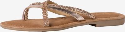 TAMARIS Séparateur d'orteils en marron / or rose / argent, Vue avec produit