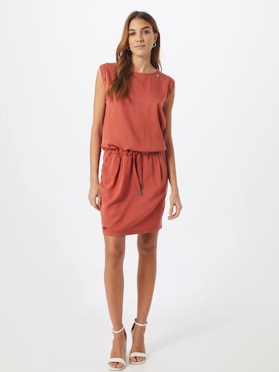 Ragwear Kleid 'MASCARPONE' in rostbraun / orangerot, Modelansicht