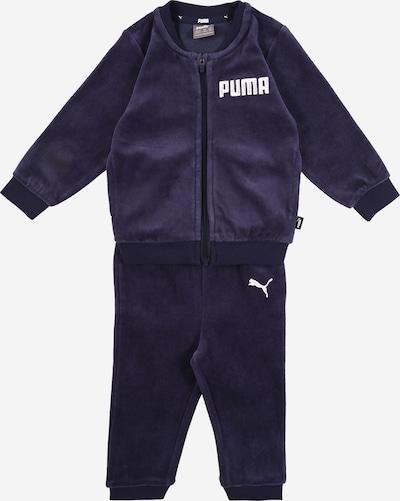 PUMA Jogginganzug in dunkelblau / weiß, Produktansicht