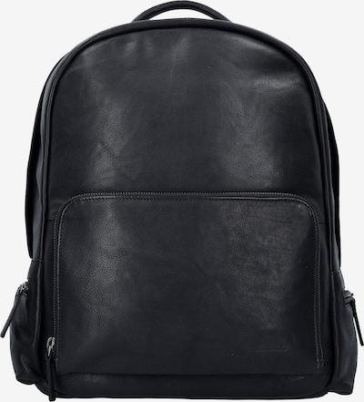GREENBURRY Rucksack 'Oily Tumbled' in schwarz, Produktansicht