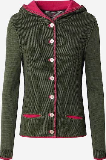 LIEBLINGSSTÜCK Strickjacke 'Zarina' in grün / pink, Produktansicht