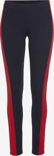 HIS JEANS Leggings in rot / schwarz, Produktansicht