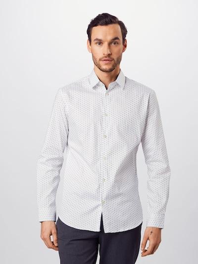 SELECTED HOMME Zakelijk overhemd in de kleur Duifblauw / Wit: Vooraanzicht