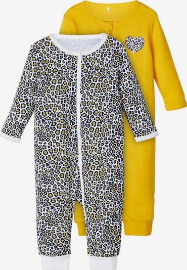 NAME IT Pyžamo - marine modrá / zlatě žlutá / bílá, Produkt