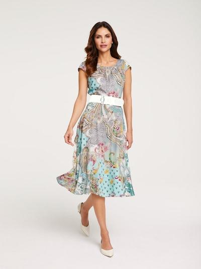 heine Kleid 'Druckkleid mit Bindegürtel ' in mischfarben, Modelansicht