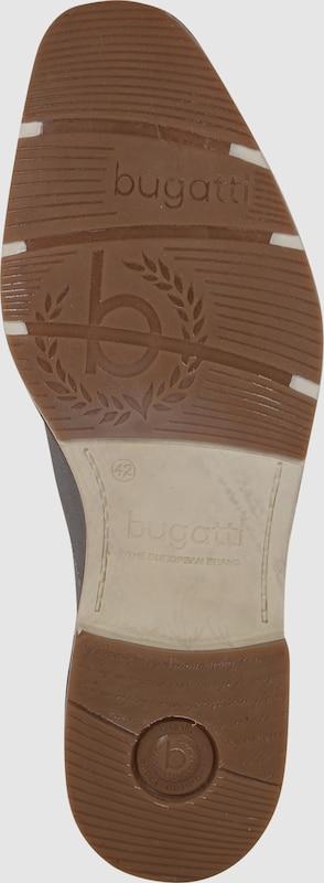 bugatti Schnürschuh aus strukturiertem Leder