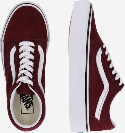 VANS Sneaker 'Old Skool Platform' in bordeaux / weiß: Seitenansicht