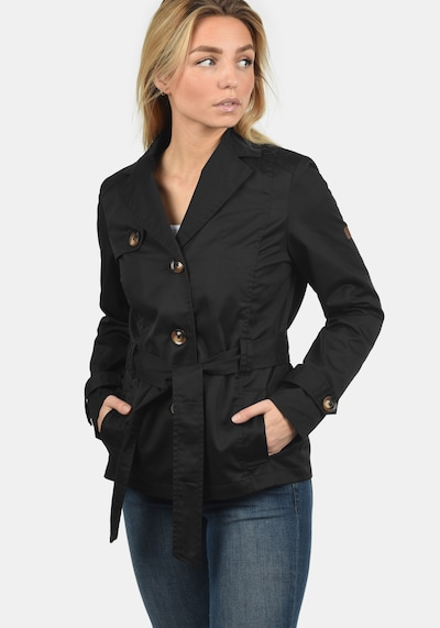 Desires Trenchcoat 'Trixie' in schwarz, Modelansicht