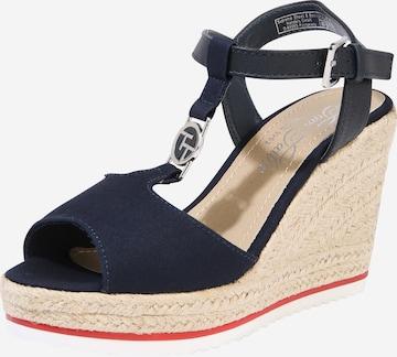 Sandale cu baretă de la TOM TAILOR pe albastru