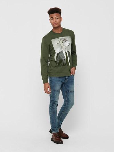 Only & Sons Sweatshirt in grün: Frontalansicht