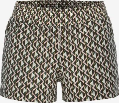 LASCANA Pidžama hlače u tamno zelena / roza / pastelno roza / prljavo bijela, Pregled proizvoda