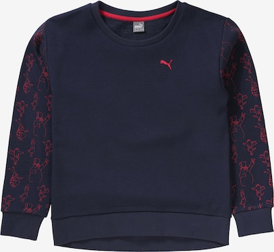 PUMA Sweatshirt 'Tabaluga' in dunkelblau / hellrot, Produktansicht