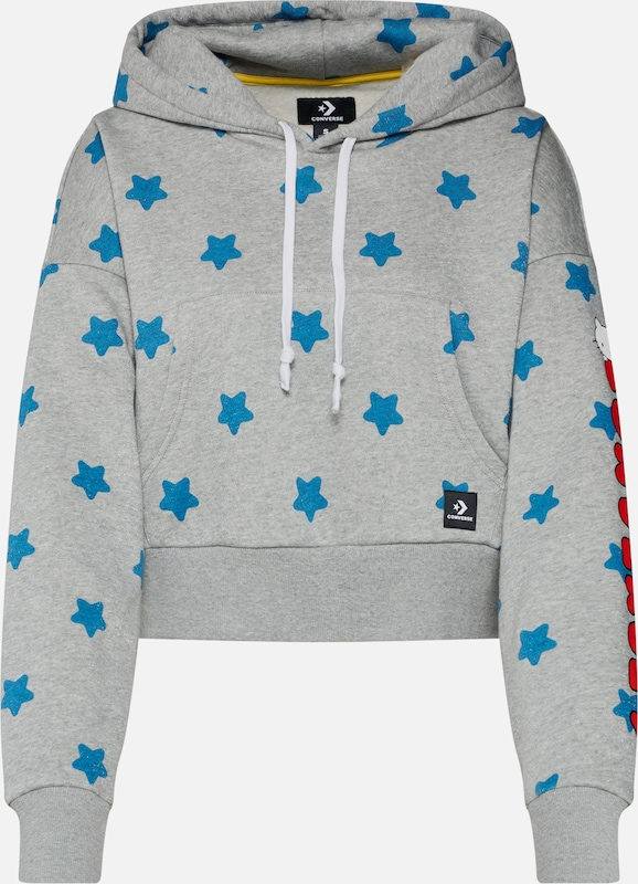 Converse Po Multi' TurquoiseGris Sweat shirt X Hello En Kitty 'converse White Boxy Rouge POTwulkXZi