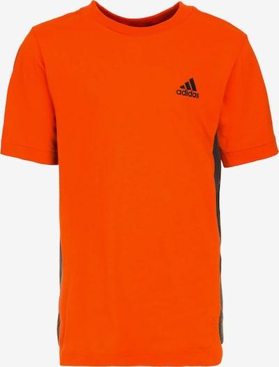 ADIDAS PERFORMANCE Trainingsshirt 'ID Tee 2' in orangerot / schwarz: Frontalansicht