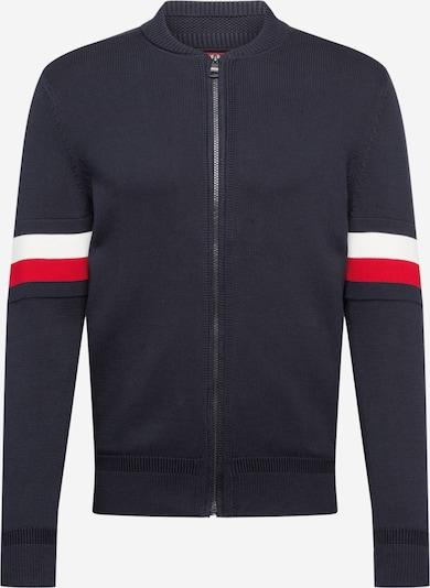 TOMMY HILFIGER Gebreid vest in de kleur Donkerblauw / Rood / Wit, Productweergave