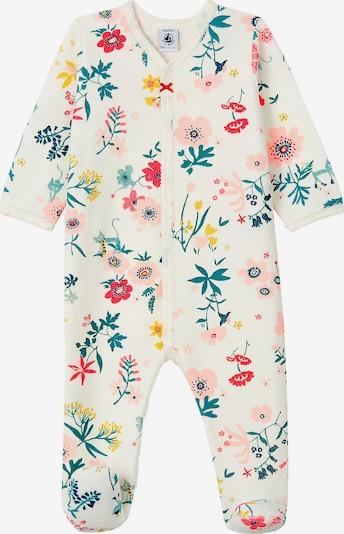 PETIT BATEAU Schlafanzug in beige / smaragd / mischfarben / rosa, Produktansicht