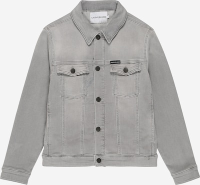 Calvin Klein Jeans Jacke 'BOYS TRUCKER - ATH SOFT GR STR' in grey denim, Produktansicht