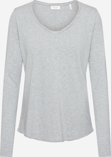 Marc O'Polo DENIM Shirt 'LS knit optic Vneck' in graumeliert, Produktansicht