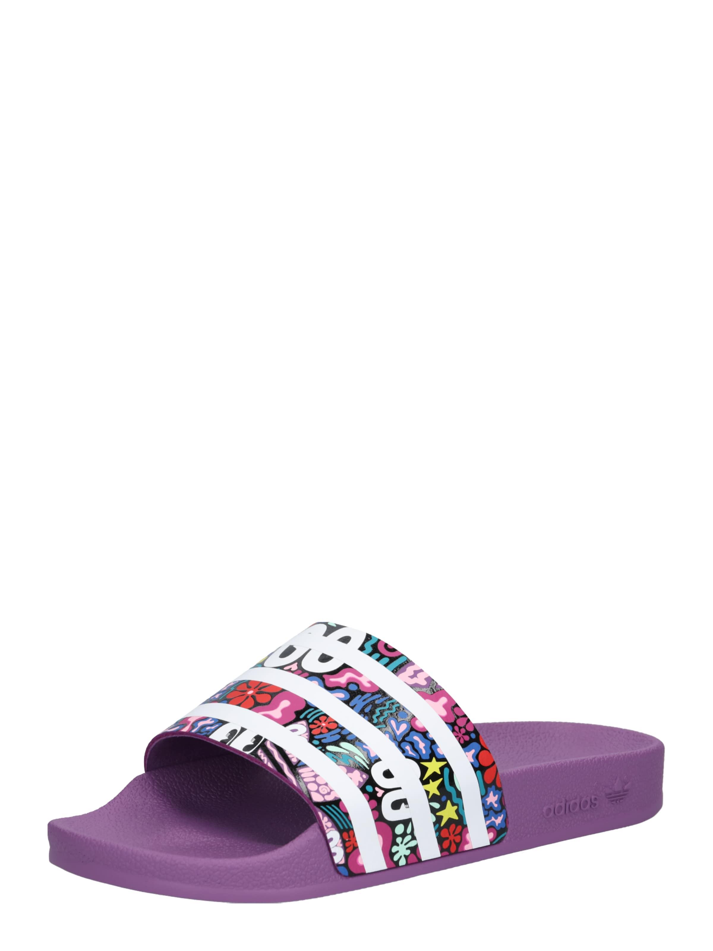 Aubergine En Mule De Couleurs Mélange Adidas Originals 'adilette' qw77TzP