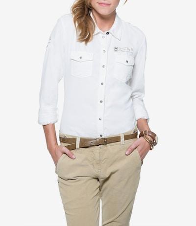 Soccx Bluse in beige / weiß: Frontalansicht
