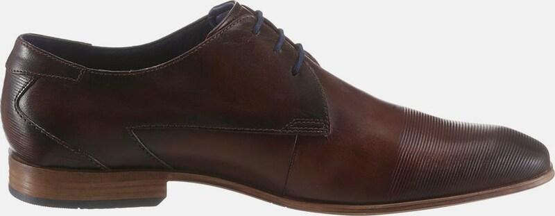 bugatti | | bugatti Schnürschuhe mit dezenten Rillen Schuhe Gut getragene Schuhe 75a7e7