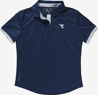 Diadora Poloshirt in dunkelblau / weiß, Produktansicht